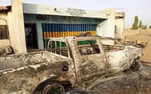 Tension as unknown Gunmen Kills Policeman, Set Station Ablaze In Benue