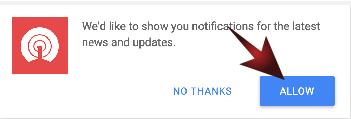 Correctbn notifications key
