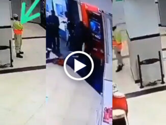 armed men rob a man at the ATM