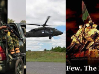Military Aircraft, soldiers Engage ESN Personnel