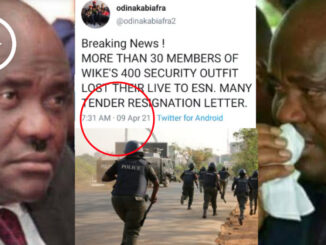 Over 30 Members Of Wike's Security Outfit Gun Down