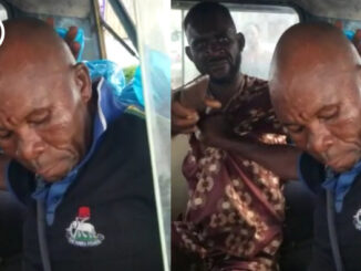 Policeman captured fighting bus conductor