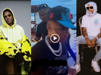 Choke – Fans scream as Wizkid blesses them with cash at Lagos beach