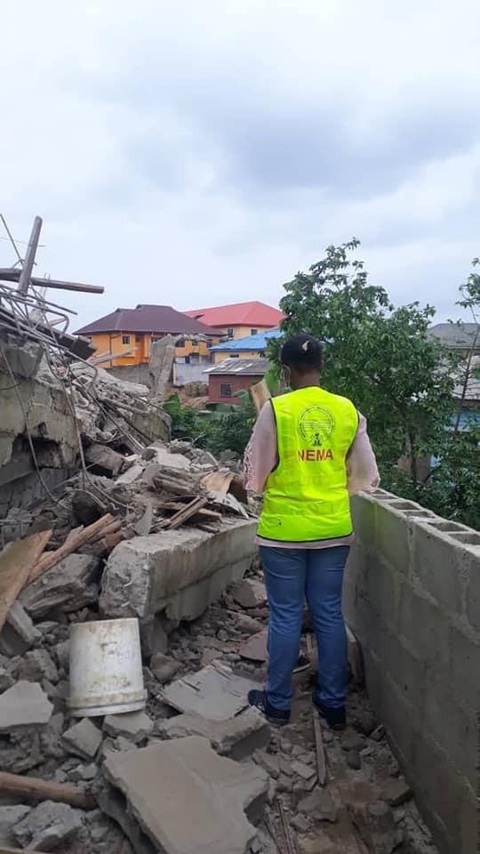 Breaking: Landlord killed as 2-storey building collapses in Lagos
