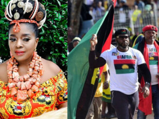 Biafra is sure, it will be the best country in the world with our leader Mazi Nnamdi Kanu - Actress Rita Edochie